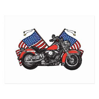 Classic American Biker Postcard
