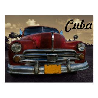 Classic American car in Vinales, Cuba Postcard
