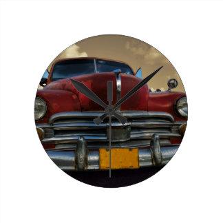 Classic American car in Vinales, Cuba Round Clock