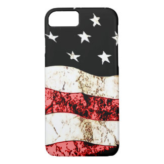 Classic American Flag Grunge Art iPhone 7 Case