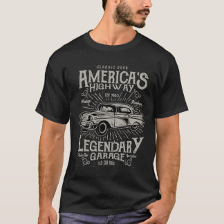 Classic American Muscle Car | Hotrod's Highway T-Shirt