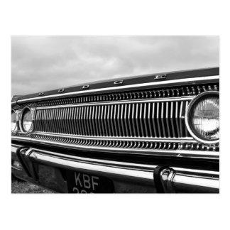 Classic American Muscle Car Postcard