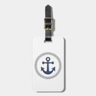 Classic Anchor White Personalized Luggage Tag