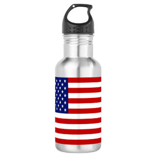 Classic and Cool American Flag Patriotic 532 Ml Water Bottle