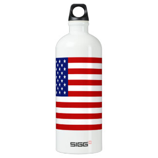 Classic and Cool American Flag Patriotic SIGG Traveller 1.0L Water Bottle