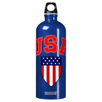 Classic and Cool U.S.A American Flag Patriotic SIGG Traveller 1.0L Water Bottle