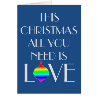 Classic and Elegant Gay Orientated Christmas Card