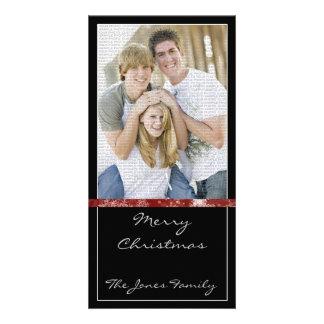 Classic and Modern Christmas Photocard Custom Photo Card