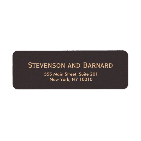 Classic and Professional Brown Return Address Label