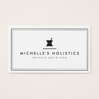 Classic Apothecary Holistic Medicine White Business Card