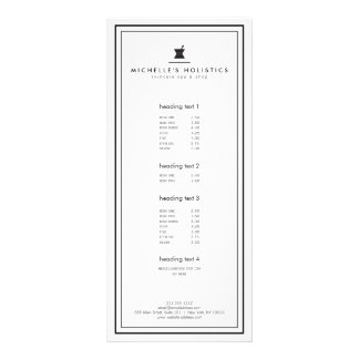 Classic Apothecary Holistic Medicine White Rack Card