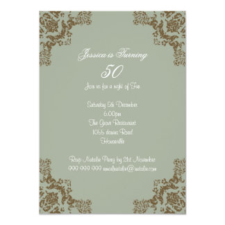 Classic art deco 11 cm x 16 cm invitation card