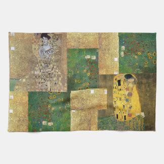 Classic Art Klimt Painting Tea Towel