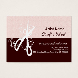 Classic Artistic Arts & Crafts Salon Appointment Business Card