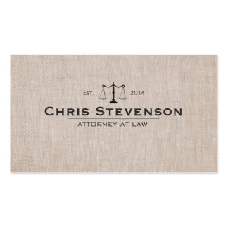 Classic Attorney Justice Scale Masculine Pack Of Standard Business Cards