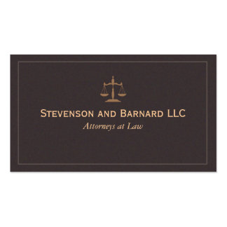 Classic Attorney, Lawyer (NEW & IMPROVED) Pack Of Standard Business Cards