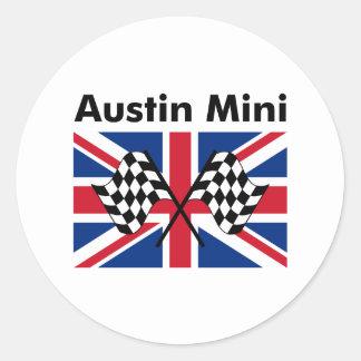 Classic Austin Mini Round Stickers
