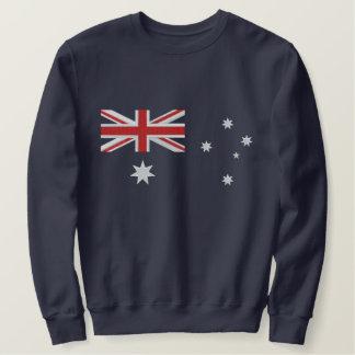Classic Australian Flag Embroidery Embroidered Sweatshirt