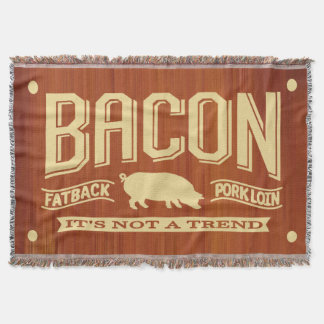 Classic Bacon - Not A Trend Throw Blanket