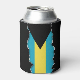 Classic Bahamian Flag Can Cooler
