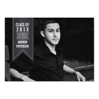 Classic Banner Graduation Photo Announcement