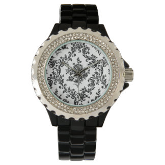 classic baroque floral wrist watch
