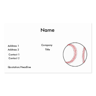 classic baseball design business card