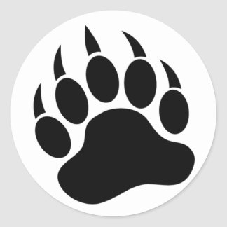 Classic Bear Paw/Claw in black and white -Sticker