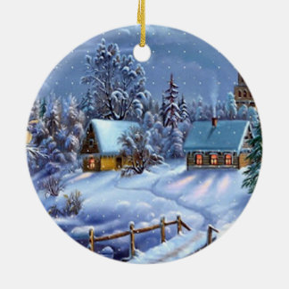 Classic, beautiful vintage Christmas picture Christmas Tree Ornament