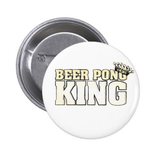 Classic Beer Pong King 6 Cm Round Badge