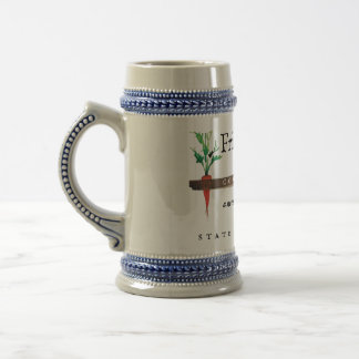 Classic Beer Stein in Grey/Blue or White/Gold