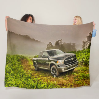 Classic Big Truck Off Road Acrylic Art Fleece Blanket