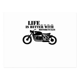 Classic Biker  Life is Better with Motorcycle Postcard