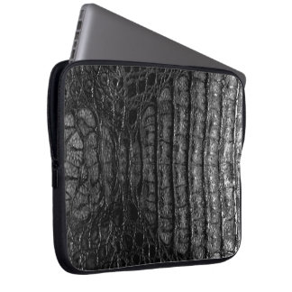 Classic Black Alligator Skin #2 Laptop Sleeve