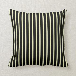 Classic Black and Cream Stripe Pillows