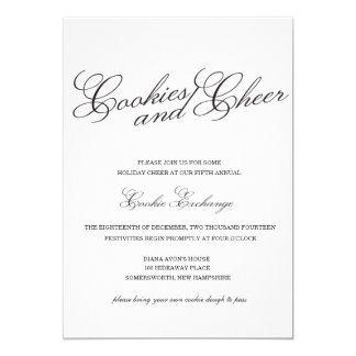 Classic Black and White Cookie Exchange Invite
