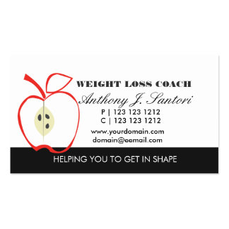 Classic Black and White Fruit Weight Loss Coach Pack Of Standard Business Cards