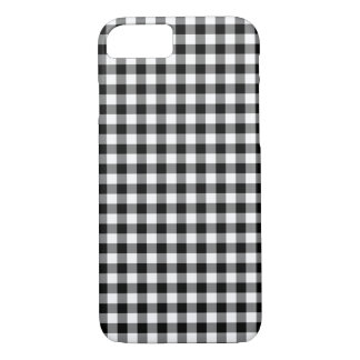 Classic Black And White Gingham Pattern iPhone 8/7 Case