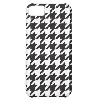 classic black and white houndstooth pattern iPhone 5C case