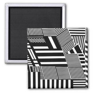 Classic Black and White Stripe Magnet