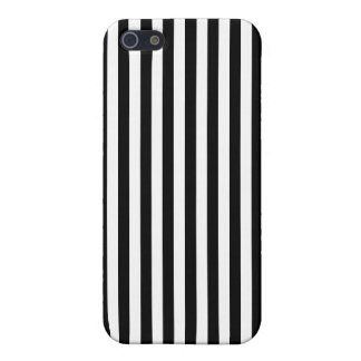 Classic Black and White Stripes iPhone 5/5S Covers