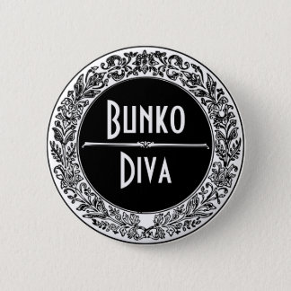 Classic Black And White Vintage Bunco 6 Cm Round Badge