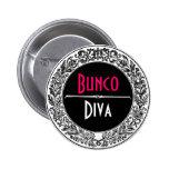 Classic Black And White Vintage Bunco Pinback Button