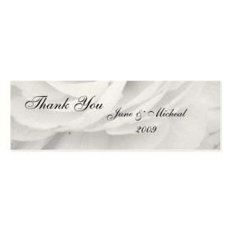 Classic Black and White Wedding Thank You Cards Pack Of Skinny Business Cards