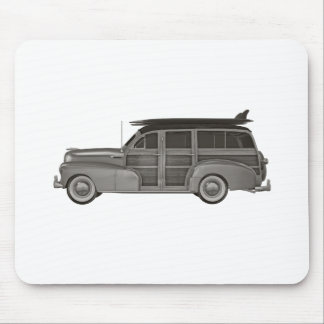 Classic Black and White Woody Mouse Pad