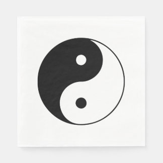 Classic Black and White Yin and Yang Paper Napkin