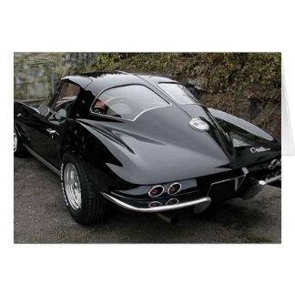 Classic Black Corvette Split Window Card