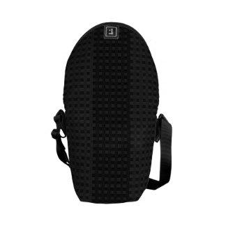 Classic Black on Black Stripes Rickshaw Messenger Courier Bags