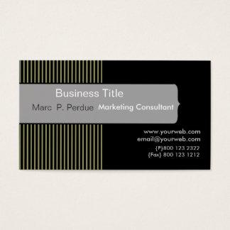 Classic Black White Gray Masculine Corporate Business Card