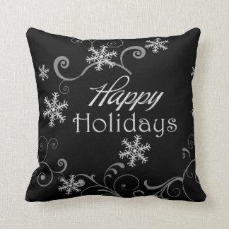 Classic Black & White Reversible Christmas Pillow